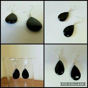2 for $20 Handmade black agate earrings